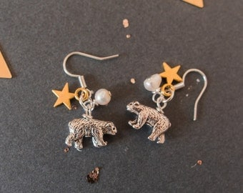 Bear Charm Earrings