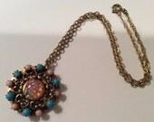 Vintage Fire Opal Pendant