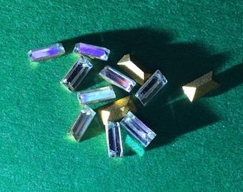 Vintage Swarovski Crystal Baguettes Article 4500 4x2mm QTY - 4