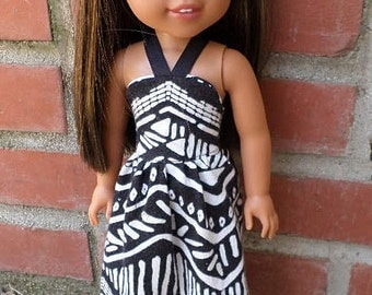 MAxi halter dress for 14 inch dolls