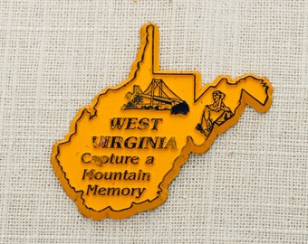 """West Virginia Vintage Silhouette State Magnet 