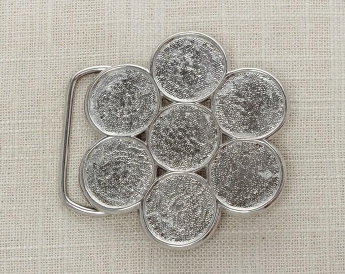 SALE Vintage Belt Buckle Buffalo Nickel Coin Holder Money Silver Tone Metal   Mens Womens Unisex BB13