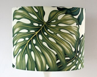 monstera leaf lampshade