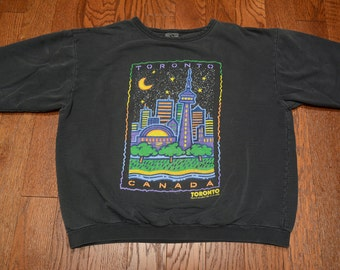 vintage 80s 90s Toronto sweatshirt Canada jumper No Place Like It On Earth souvenir tourist sweatshirt medium large