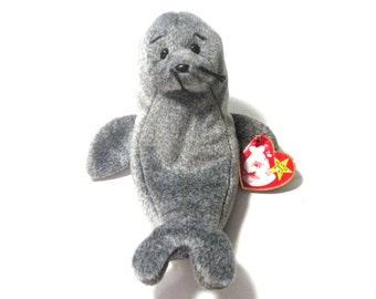 TY Beanie Baby W/ Tag ERROR- Slippery the Seal Etsy Christmas Sale
