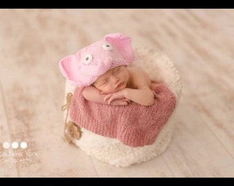 Newborn photo prop, elephant newborn/ baby hat, Newborn boy, Newborn girl, Newborn hat, Newborn, baby hat, newborn knit hat, newborn props