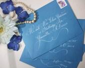 Calligraphy to Address Wedding Envelopes