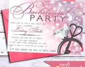 Last Fling Before The Ring - Bachelorette Party - Bridal Shower - 5x7 Invitation