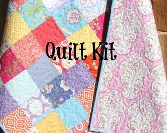 Quilt Kit Happi By Dena Designs Baby Girl Crib Quilt Diy Do It