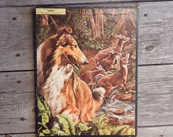 1957 Lassie Tray Puzzle by Whitman Publishing