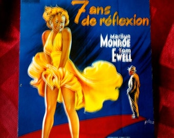 Marilyn Monroe 7 Ans de Reflexion Postcard Seven Year Itch 1970's card E7 Film Motion Picture Pin Up Icon French France