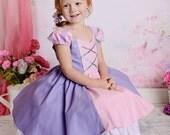 Gorgeous Rapunzel Tangled costume princess dress