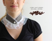 lace collar, Victorian collar, lace necklace, peter pan colar