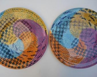 set of two ceramic plates