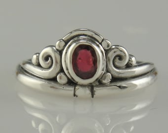 Sterling Silver Ruby Ring- One of a Kind