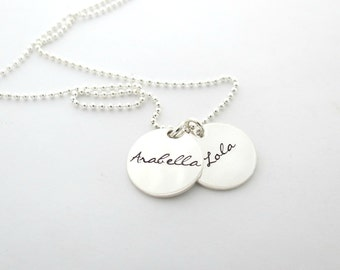 Personalized Necklace - Mothers - Grandma - Nana - Friends - Couple - Kids Names - Monogrammed - Engraved - Mothers Day - Hand Stamped