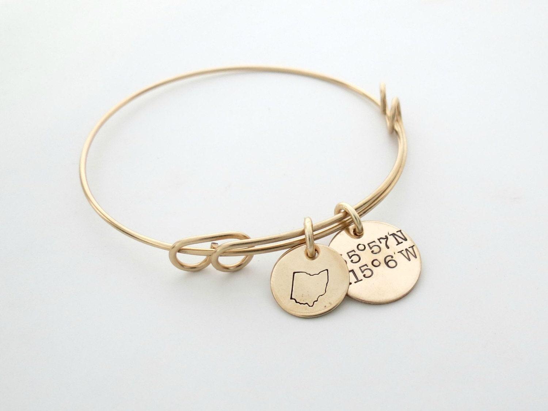 personalized coordinates bracelet custom longitude latitude