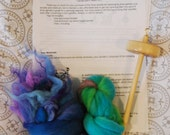 """Spinning with Color, Starter Kit/Sampler - """"Water Lilies"""" colorway"""