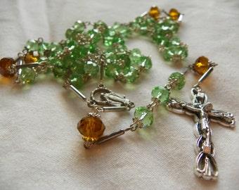 Rosary Crystal Catholic Rosary Beads Swarovski Crystal Rosary traditional rosary Christian rosary crystal rosary Confirmation rosary gift