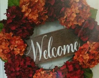 Wreaths, Hydrangea wreaths,  Christmas wreath for your front door,  Christmas hydrangea wreath for the holidays.