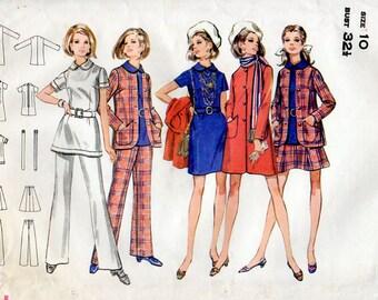 1960s Coat, Jacket, Dress, Top, Skirt & Pants Pattern Butterick 5551 Vintage Sewing Pattern Full Sixties Separates Wardrobe Bust 32.5