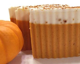Pumpkin Spice Latte Soap - Pumpkin Butter Shea Butter Handmade Soap - Fall Autumn Soap - VEGAN