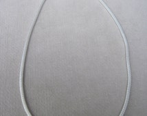 """Smooth Mesh Silver 5mm Round Chain 19"""" Long Necklace"""