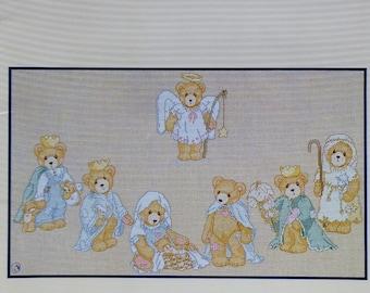 Priscilla Hillman CHERISHED TEDDIES NATIVITY Designs By Gloria & Pat (Multiple Designs)  - Counted Cross Stitch Pattern Chart Booklet