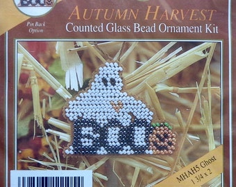 Mill Hill Beads Autumn Harvest GHOST Counted Glass Bead Ornament Kit