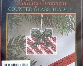Mill Hill Beads Holiday Ornament GIFT PACKAGE Counted Glass Bead Ornament Kit