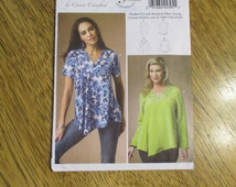 BOHO V-Necked Tunic Top / EASY Summer Blouse by Connie Crawford - All Sizes Xsm - Xlg - UNCUT Sewing Pattern Butterick 5999