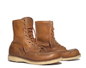 8 | Men's 1970's Vintage Brown Moc Toe Work Boots