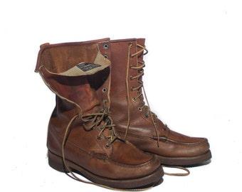 7 B | Men's Vintage G.H. Bass & Co. Quail Hunter Moc Toe Work Boots | women size 8-8.5