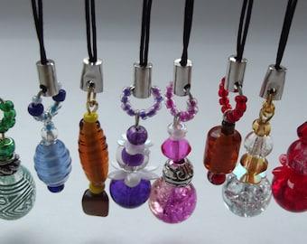 Mobile phone, USB stick, zipper pull bead charms