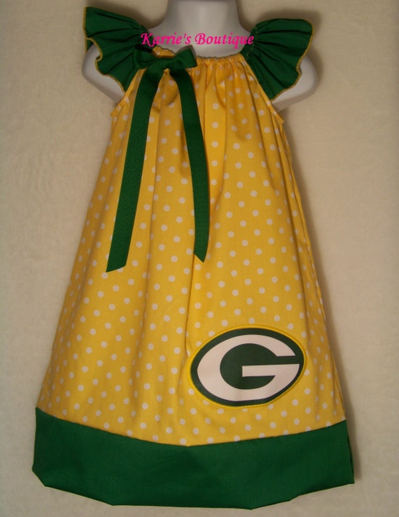 Green Bay Packers Packer Baby Yellow by KarriesBoutique