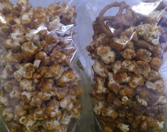 Nutty Maple Popcorn and Maple Popcorn pack/ Made with Vermont Maple Syrup