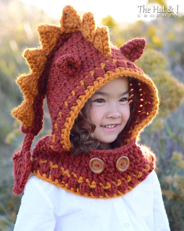 Crochet pattern lucky dragon hood cowl chunky crochet zoom bankloansurffo Images