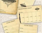 Private Investigator Detective Case File printable paper crafting fingerprints profile clues instant download digital sheet - VDMIRE1115