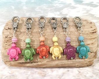 6 pc Under The Sea Party Favors, Sea Turtle Party, Birthday Party Favors Kids Zipper Pulls Backpack Charm Ocean Party Favors Sea Life Charms