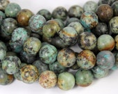 African Turquoise Jasper 12mm round beads -15.5