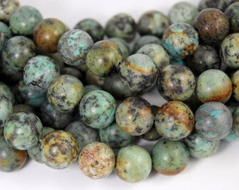 African Turquoise Jasper 12mm round beads -15.5