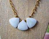 White Jade Triangle Necklace