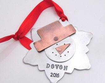 Personalized Ornament, Snowman Ornament - Christmas Tree Ornament - Snowflake Ornament - Personalized Christmas Decoration, Holiday Decor