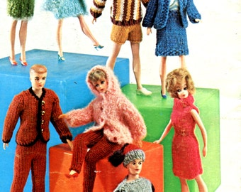 1960's Barbie & Ken Doll Clothes Evening and Sportswear Instant Download PDF