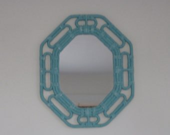 Shabby Cottage  Framed Mirror Distressed in Cool Icy Blue (Choose Color)