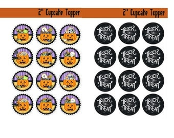 Spooky Cupcake Topper Image, Witches Brew Tags, Witches Brew Labels, Spooky Halloween Template, Large Halloween Party Pack