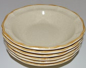 Mikasa Garden Club Bowls Salad Bowls Set of 6 Six Stoneware Salad Cereal Vintage Bowls EC400 Excellent