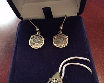 Sterling Silver Coin Earrings from the Silver of Atocha Lovely!