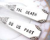 Til Death Do Us Part Forks - Gothic Wedding Forks - Halloween Wedding Forks - Rio 1930