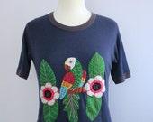 Parrot Tropical Blue Ringer Tshirt M